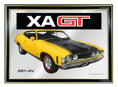 Bar Mirror A4 Suit Yellow Ford Xa Gt Coupe Enthusiasts Or Gift For Mancave