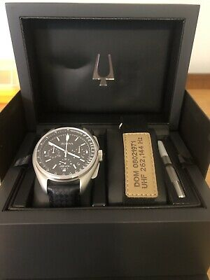 Bulova Special Edition Moon Apollo Lunar Pilot Chronograph Black Dial