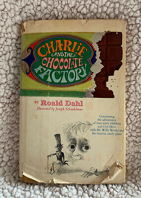 VTG 1964 Charlie and the Chocolate Factory Roald Dahl Hardcover Book Dust Jacket