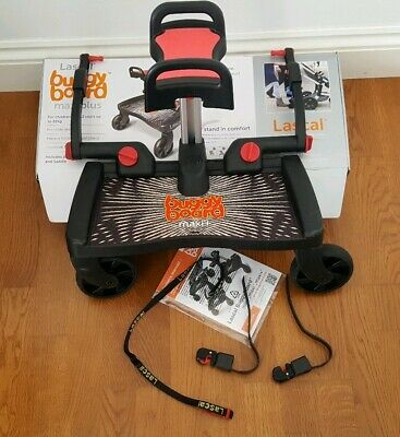Lascal Buggy Board Maxi plus with Saddle seat,  connectors and box (Used)