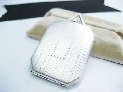 Antique Edwardian Art Deco JAMES E BLAKE CO Sterling Silver Photo Locket Pendant
