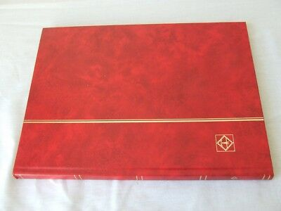 LIGHTHOUSE RED A4 8 WHITE PAGES (16 sides) STAMP STOCKBOOKS, EXCELLENT