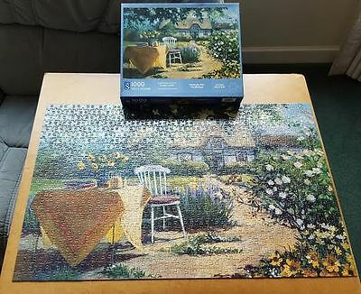 1000 piece jigsaw called GARDEN SCENE,. a W.H.SMITH Make, by AVRIL MORRIS.