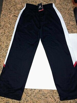 7bd30b37eac298 Nike Air Jordan Jumpman Sweatpants Black White Red Men s Large 688537-010  ...