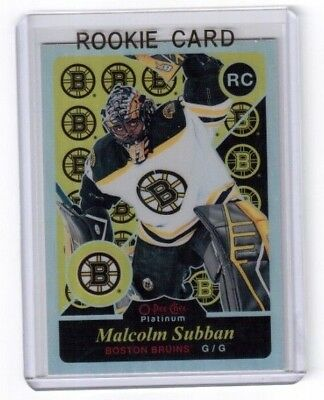 2015-16 O Pee Chee Platinum Rainbow Retro Rookie Malcolm Subban Boston Bruins