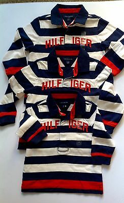 Tommy Hilfiger Baby Boys  Polo Shirt  Striped Rugby Top 6-9,9-12m 100% Genuine