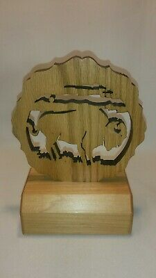 ☆ Wooden Buffalo Statue Or Trophy - Free Shipping