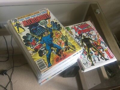 HUGE LOT OF MARVEL MICRONAUTS COMICS! Almost complete full run incl. X-men