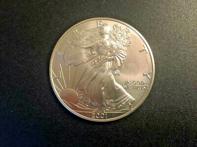 2001 1 oz AMERICAN SILVER EAGLE BRILLIANT UNCIRCULATED