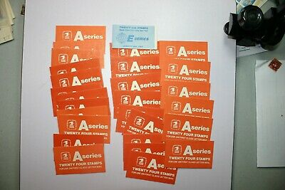 28 unused booklets of non-denominated US stamps. 27- A and 1- E. FV=$102.20