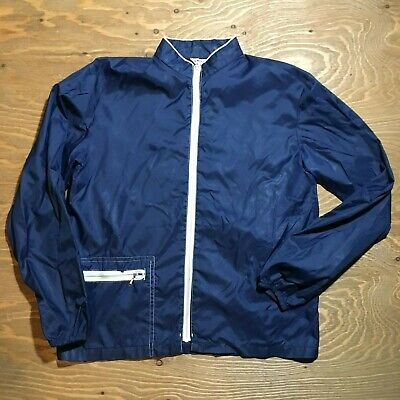 Vintage Men's Penney's Lightweight Dark Blue Surf Breaker Jacket Size Medium