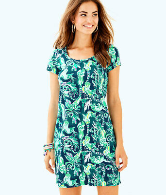1399fb6d81f NEW LILLY PULITZER Parigi Dress Bennet Blue Lets Mango Dress SZ M ...
