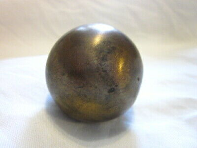"Vintage Small Solid Brass Door knob Handle 2"" Diameter"