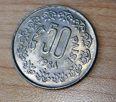 1984 India 50 Paise