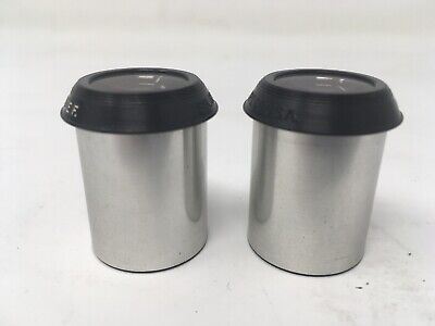 Pair Bausch & Lomb 15X Wide F. Microscope Eyepieces. W/ Case. Sl