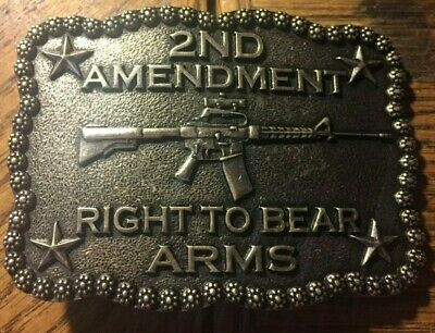 Second 2ND Amendment Right To Bear Arms Belt Buckle