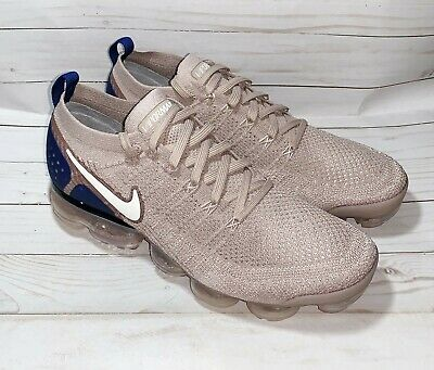 Nike Air Vapormax Flyknit 2 Running Shoes Diffused Taupe Blue Size 11 942842-201