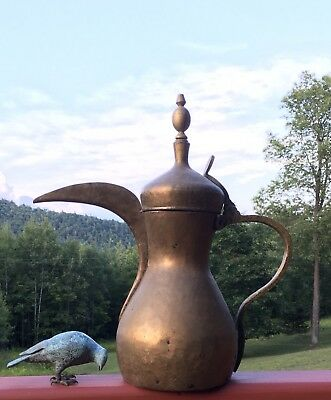 Dallah Arabic Coffee Pot Islamic Oman UAE Qatar Dubai Kuwait Signed 59 cm Tall