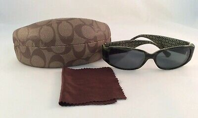 "5228b9747bf1 COACH ""KERI""(S464) Green/Black Sunglasses With Hard Case And Cleaning"