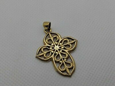 "RARE RETIRED James Avery 14k Yellow Gold Religious Cross 1.5"" Pendant FREE SHIP"