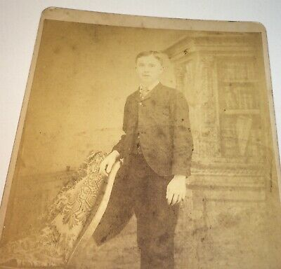 Antique Victorian American Handsome Young Man, Dapper Fashion Cabinet Photo! US