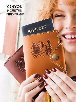 Personalised Passport Cover Holder Travel Wallet Leather Case Handmade Gift