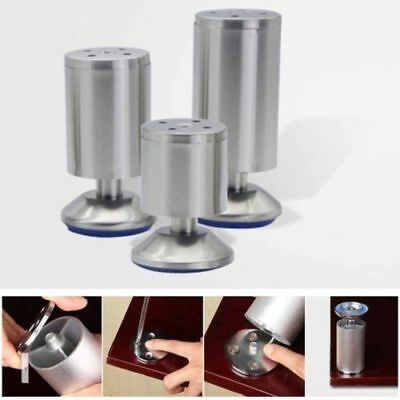 4pcs Stainless Steel Furniture Cabinet Legs Sofa Table Kitchen