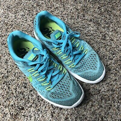 outlet store 1ecd6 dd1f7 NIKE LUNARTEMPO 705462-400 Womens Size 8.5 Running Shoes Blue/Yellow 2014