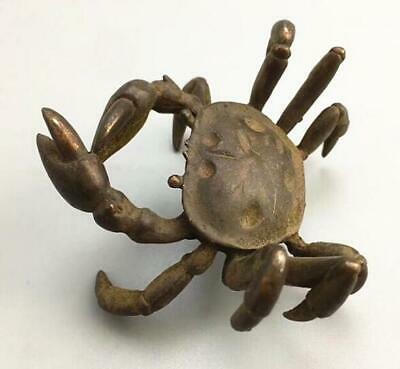 China Retro bronze statue amulet Crab Collection Small Ornament