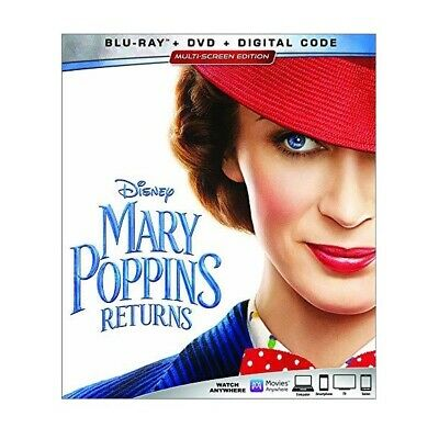 Mary Poppins Returns (2019, Blu-ray/DVD, Disney, Sequel, Musical) *NEW RELEASE*