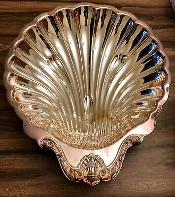 Leonard Silver-Plated Clamshell Serving Bowl Vintage