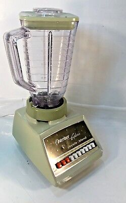 Vintage 1970s Oster Osterizer Galaxie Blender TWO TONE GREEN Model 869-15H