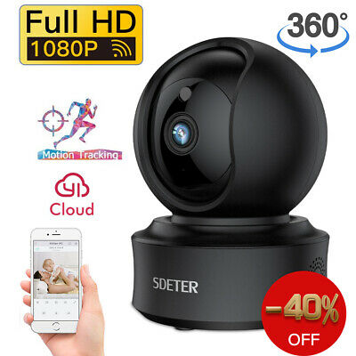 1080p Pan/Tilt/Zoom IP WiFi Cam In/ Outdoor Smart Home Camera with Night Vision