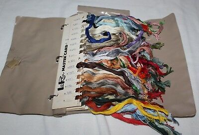 Huge Lot Embroidery Thread LoRan Mastercard Book Vintage Colors 9 Cards NEW