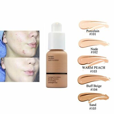 Soft Matte Full Coverage Liquid Foundation Concealer Longlasting QR