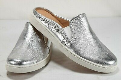 a10bdd12622 WOMENS UGG SANDALS LUCI METALLIC Silver Size 10 Casual Slip On Slides  1096354