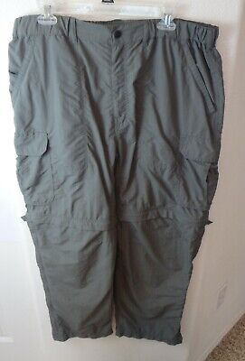 ddbccf310c MEN'S REI GRAY Nylon Cargo Hiking Trail Convertible Pants Size 38X30 ...