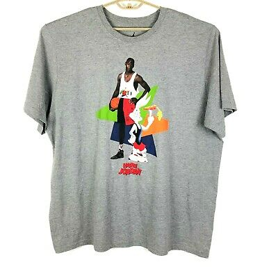 7b53a9a60ee44a Air Jordan Retro 7 VII Hare SPACE JAM Gray T Shirt Mens Size 3XL Bugs Bunny