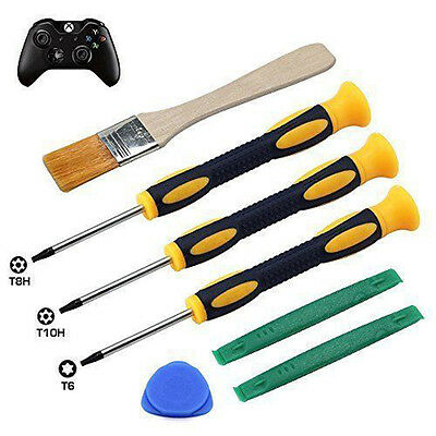 7pcs Screwdriver Clean Tool Kit for Xbox One 360 Controller PS3/PS4,T6,T8,T10