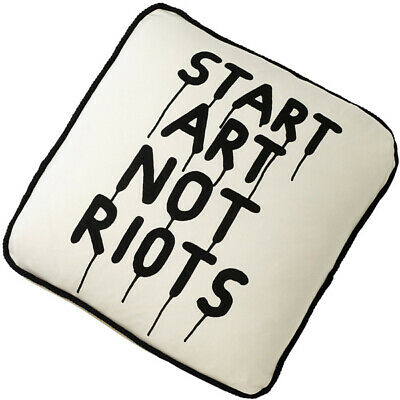 Rock Your Baby START ART NOT RIOTS Cushion Cover BNWT RRP $39.95