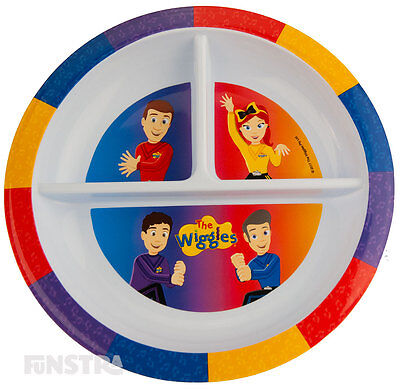 Capable The Wiggles Section Plate Divided Plate Toddler Kids Girls Boys Wiggles Plate Ne Cups, Dishes & Utensils