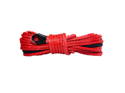 "3/8"" Red Winch Rope with Tube Thimble"