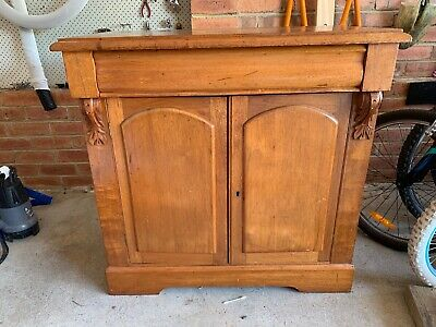 ANTIQUE Cedar Sideboard/ Hall Cabinet. Beautiful Carving