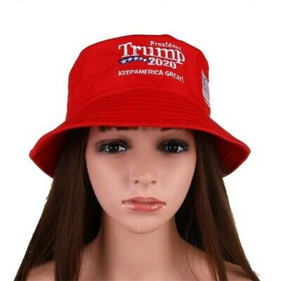 President Donald Trump 2020 Keep America Great Again Hat Red Bucket Hat Red 2H