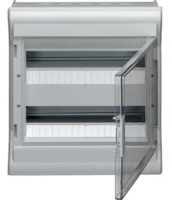 Hager WEATHERPROOF ENCLOSURE 452x418x151mm 2-Row 36-Modules Surface Mount, Grey