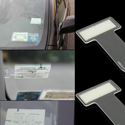 4x Car Vehicle Accessory Parking Ticket Permit Card Ticket Holder Clip Sticker