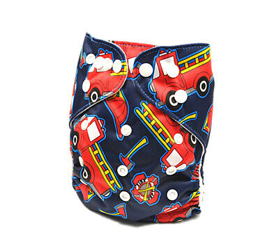 Construction vehicle Boy Cloth Nappy Diapers Covers Cloth Nappies MCN (D246)
