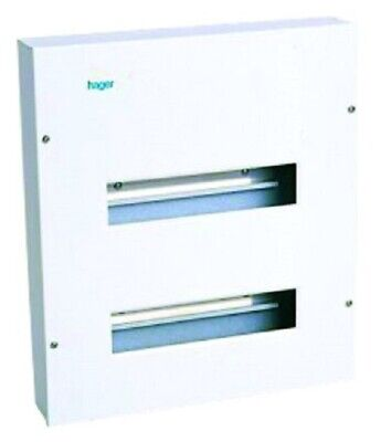 Hager METAL LOAD CENTRE 654x414x62mm 3-Rows 36-Poles Recessed Mount*German Brand