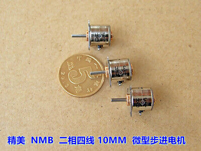5PCS 10x10.2mm 2-Phase 4-Wire Micro Step Stepper Stepping Motor With Copper Gear