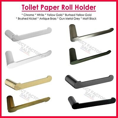 Bathroom Wall Mount Toilet Paper Roll Holder Rack Tissue Hook Stainless Steel